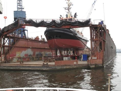 tow boat on dry dock ship on dry dock picture of port of hamburg hamburg