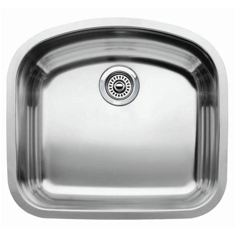 Blanco Stainless Steel Kitchen Sinks Shop Blanco Wave 20 43 In X 22 43 In Satin Polished Single Basin Stainless Steel Undermount