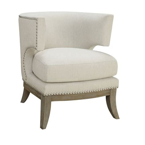 Barrel Accent Chair Coaster Barrel Back Upholstered Accent Chair In White 902559