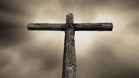 play the rugged cross rolling thunder cross sepia tone seamless worship background loop
