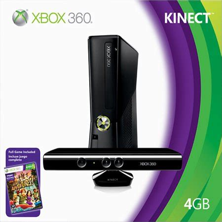 microsoft xbox 360 4gb console with kinect refurbished microsoft s4g 00001 xbox 360 4gb console with