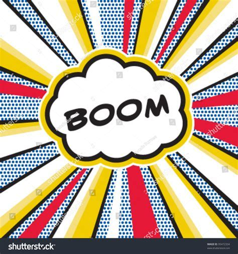 Creating powerpoint template powerpoint slides design glossy ball boom pop art inspired illustration explosion stock vector toneelgroepblik Choice Image