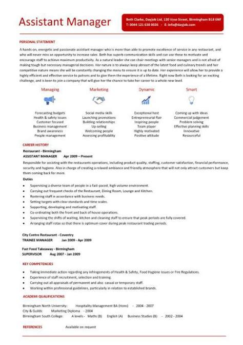 Restaurant Assistant Manager Resume by Purchase Assistant Resume