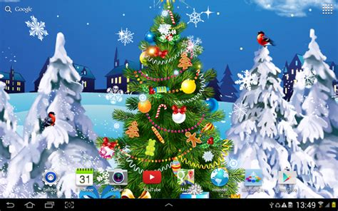 animated christmas tree wallpaper live wallpaper android apps on play