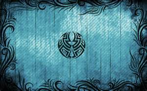 tribal tattoos wallpapers whispers grungy tribal pattern blue hd wallpaper