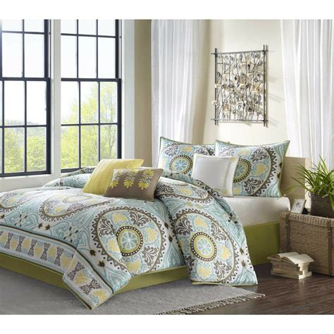 Beautiful White Comforter Sets by Beautiful Soft Textured Teal Blue Yellow White Green