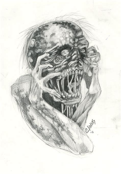 tattoo flash art zombie may zombie flash by elliadams on deviantart