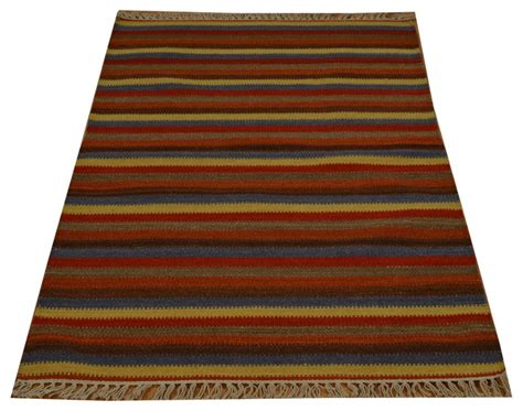 Flat Weave 100 Wool Colorful Durie Kilim Hand Woven Durie Outdoor Rugs