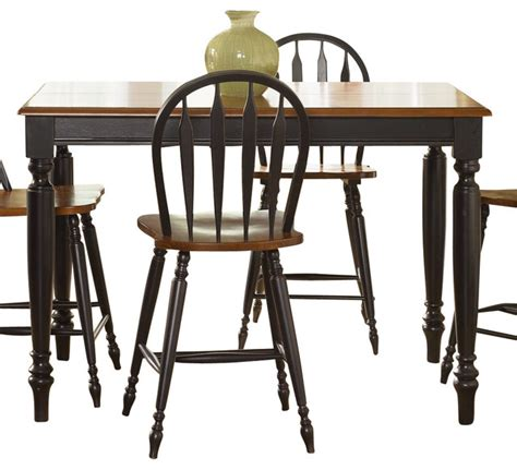 Black Country Dining Table Liberty Furniture Low Country Black 54 Inch Square Counter Height Table Traditional Dining