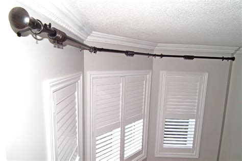 bay window traverse curtain rods bay window bay window traverse rod