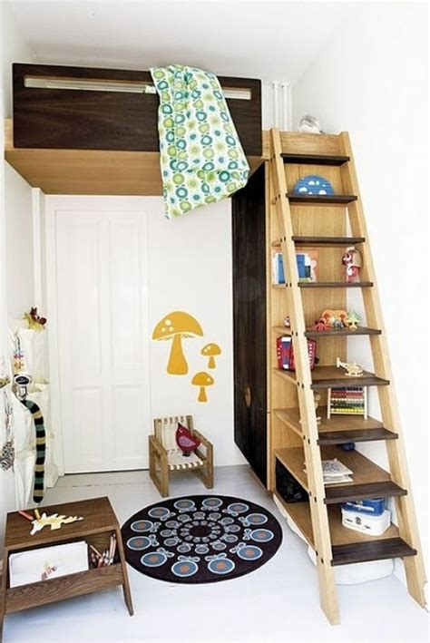 How To Make A Bunk Bed Shelf Ladder Shelf To Bunk Bed Kidspaces 2