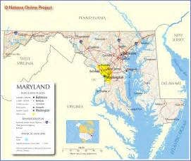 usa map maryland state maryland map free large images