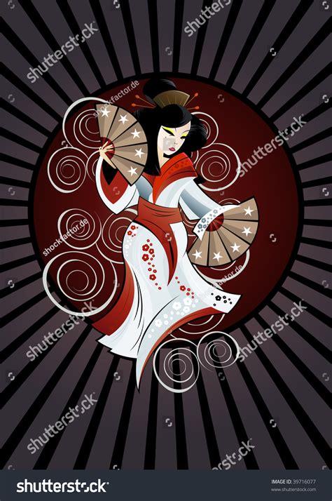 geisha tattoo background traditional geisha tattoo background stock vector 39716077