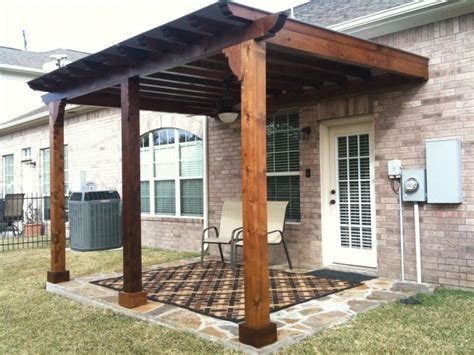 Wood Patio Designs Home Decor Exterior Rustic Style Pergola Cover With Log Wooden Column As Decorate Front Entrance