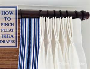 diy pinch pleat drapes diy home decorating idea how to pinch pleat ikea curtains