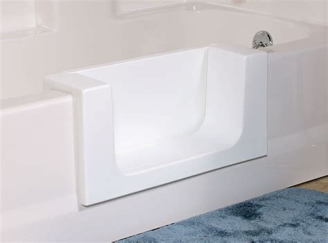 easy step bathtub to shower conversion miracle method introduces a door option for its easy step
