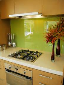 Glass Kitchen Backsplashes by Green Glass Kitchen Backsplash Decoist