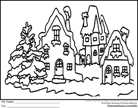 coloring pages christmas village village scene coloring pages download and print for free