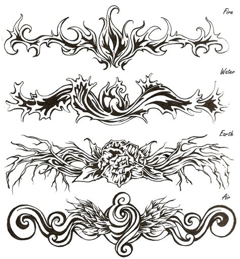 elemental tattoo designs elemental tribal tatoos by shinigami714 on deviantart
