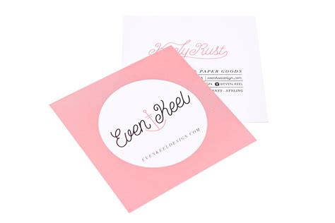 Square Gift Card - square business cards design print print peppermint