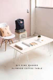 Plywood Coffee Table Diy Diy Pink Washed Plywood Coffee Table Fall For Diy Bloglovin