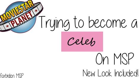 how to become a celeb on msp trying to become a celeb new outfit msp ep 9 youtube