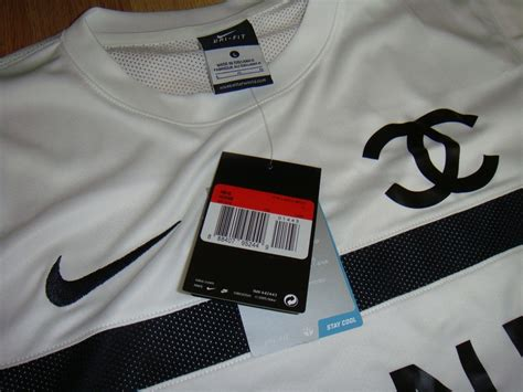 Channel Cocaine Big Size White Tshirt nike chanel fit authentic football jersey shirt new
