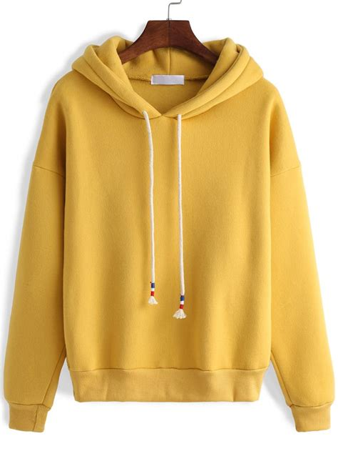 Hooded Chunky Sweater Yellow mustard yellow pullover sweater fashion skirts