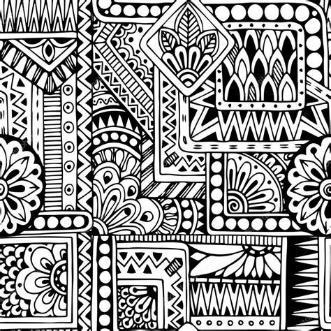doodle pattern black and white seamless ethnic doodle black and white background pattern