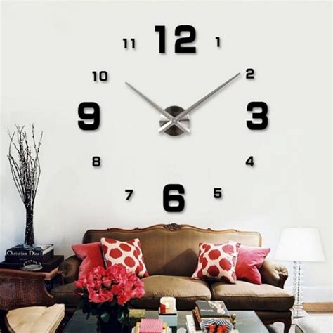 Diy Wall Clock 80 130cm Diameter Elet00660 Jam Dinding T301 diy wall clock 80 130cm diameter elet00660 jam dinding black jakartanotebook