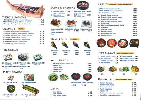 le cupole prezzi menu e prezzi menu ristorante giapponese kikko sushi