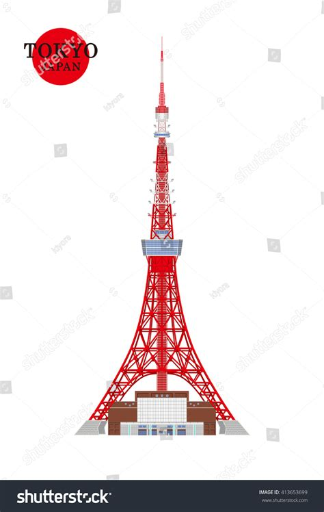 tokyojapantokyo towervector illustration japanese famous place stock vector  shutterstock