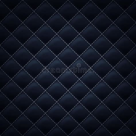 black quilted pattern quilted stitched background pattern black color stock