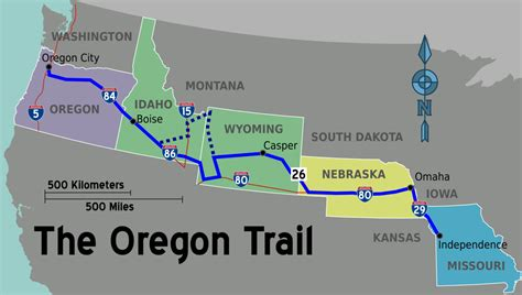 map of oregon trail oregon trail travel guide at wikivoyage