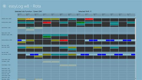 free staff rota template downloads staff rota 8 windows app lisisoft