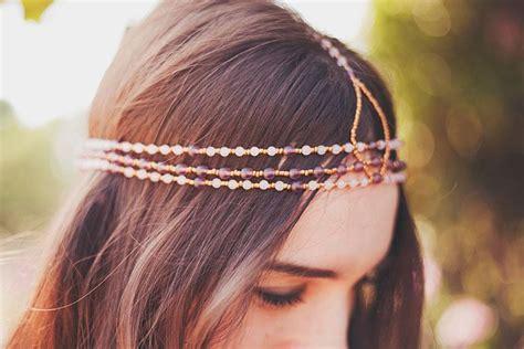 how to make a beaded headband craft diy beaded headband paperblog