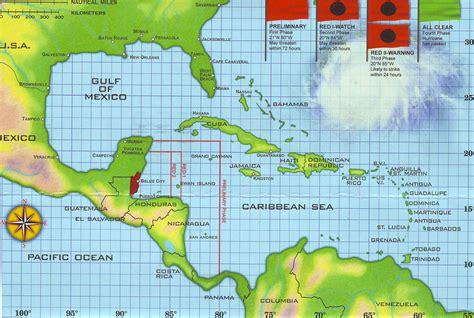 hurricane map map of belize belize maps mapsof net