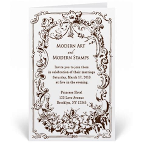 custom rubber sts for wedding invitations custom wedding invitation st vintage frame w9 75