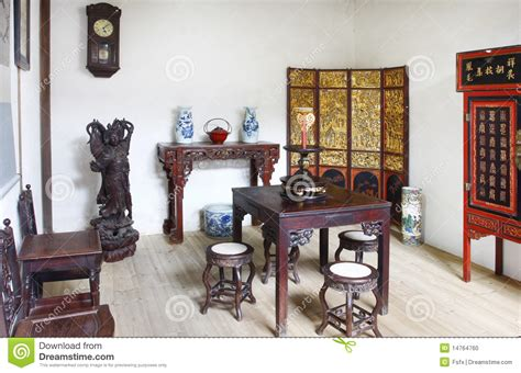 chinese house interior building interior of chinese old house stock photo image 14764760