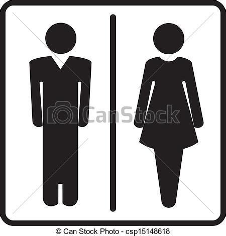 simboli bagno clipart vettoriali di simboli bagno uomo e donna