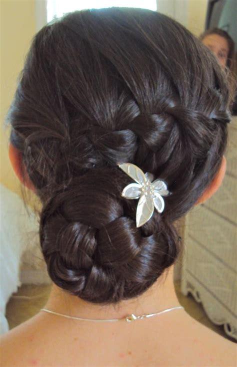 long braids put into a bun waterfall braid into a braided bun fashion hair