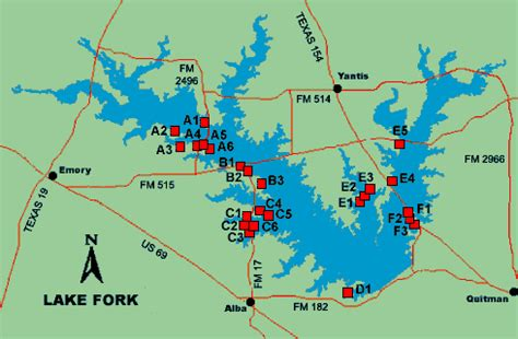 map of lake fork texas lake fork access