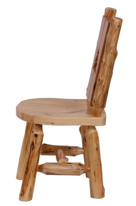 Log Dining Chairs Cut Out Cedar Log Dining Chair Drc01s Minnesota Log Furniture The Log Furniture Store