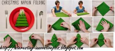 simple christmas tree napkin folding video tutorial