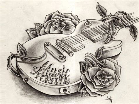 music tattoo designs free free designs guitar wallpaper bocetos
