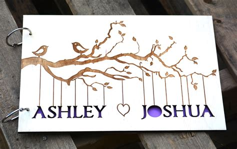 Sign In Book Wedding Personalized Wedding Guest Book Rustic Sign In Book Barn