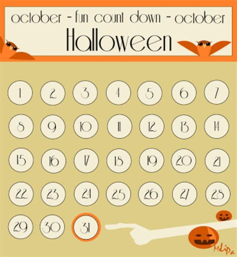 printable halloween advent calendar 11 fun ways to countdown to halloween tip junkie