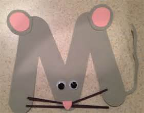 letter m mouse craft all kids network