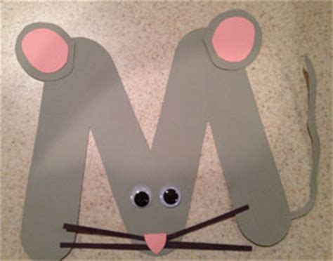 mouse craft letter m mouse craft all network