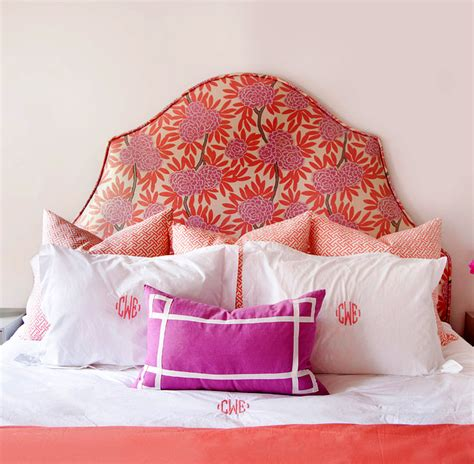 monogrammed upholstered headboard add a finishing touch to your bedroom with the perfect